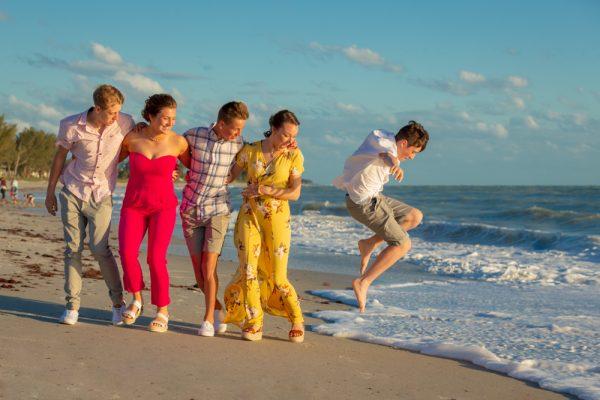 Fun family picture on Sanibel Island
