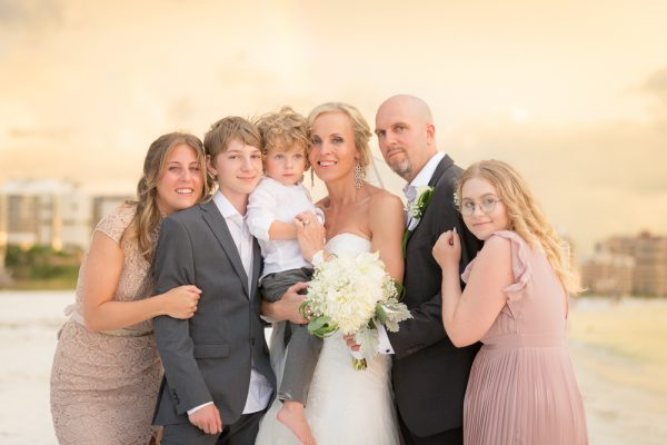 family photo at Marco Island wedding