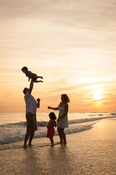 Sanibel and Captiva family photography at sunset