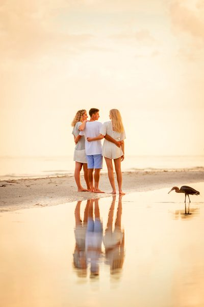 family photo on Sanibel Island