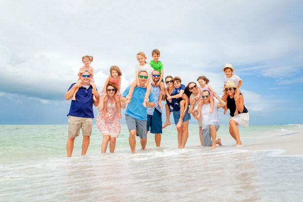 family photo on North Captiva Island