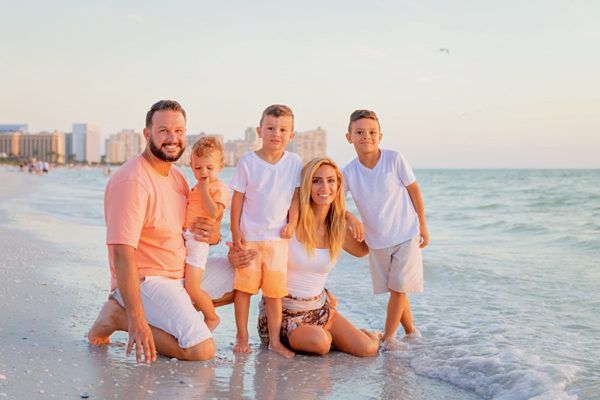 family photo on Marco Island