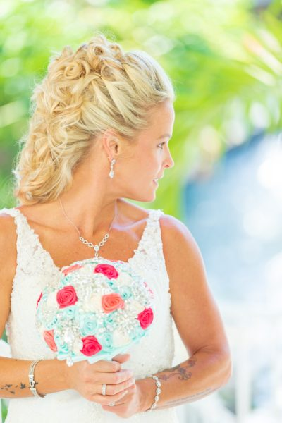 bride at sanibel island wedding