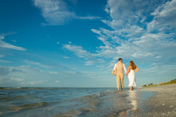 sunrise wedding at Sanibel beach