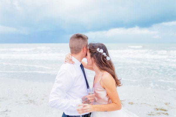 wedding couple on Sanibel Island