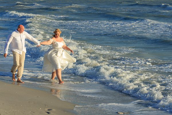 Wedding picture from Sanibel Island beach