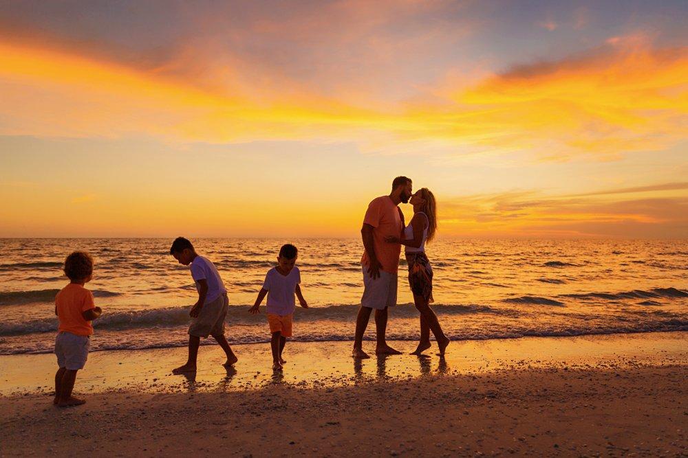 family photo on Marco Island beach