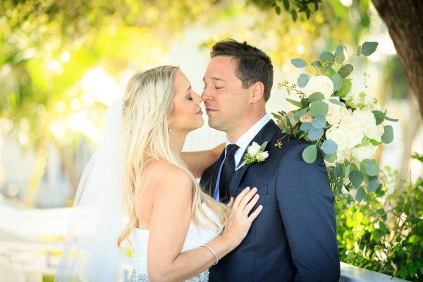 romantic moment couple at Sanibel wedding