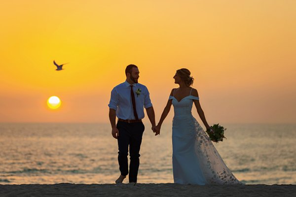 wedding photo on Captiva beach