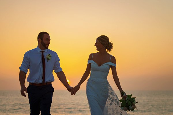 Sunset wedding on Captiva Island