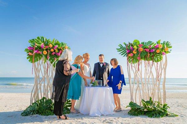 Wedding ceremony at Casa Ybel Resort