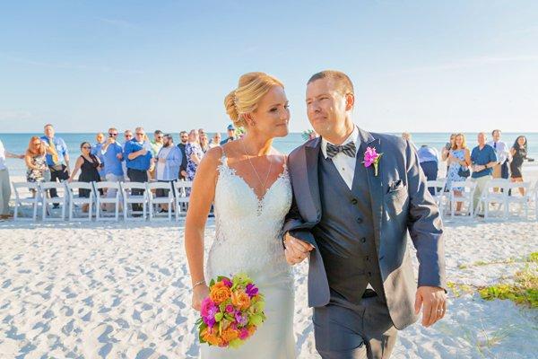 wedding reception on beach at Casa Ybel Resort