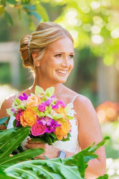 Bride at Sanibel Island wedding venue