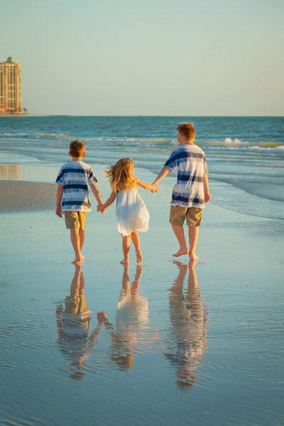 children photo on beach