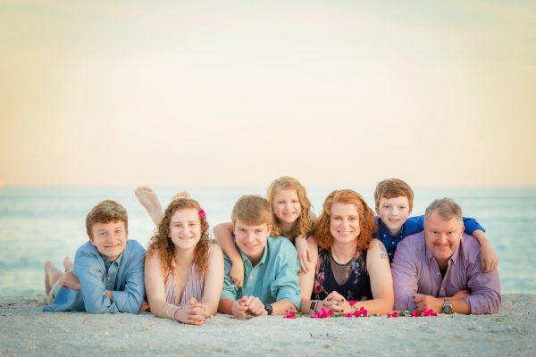 family photo on sanibel