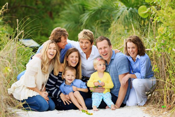 family photo on Sanibel Island