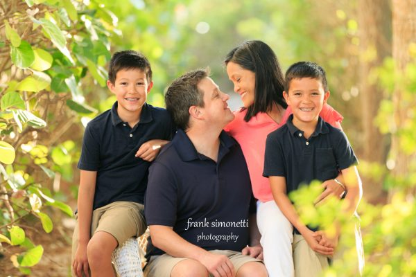 family photo session with children
