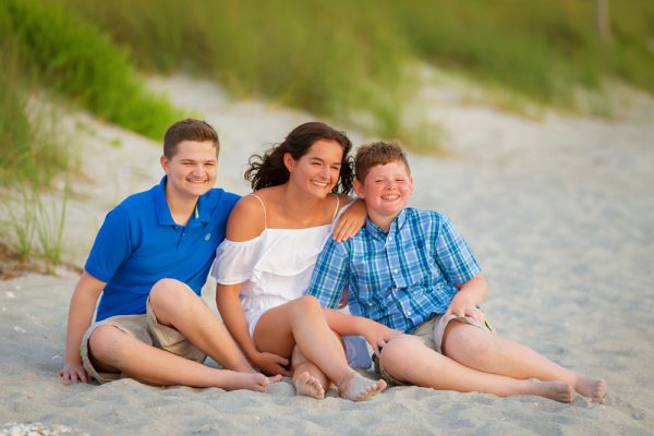 family vacation photo at South Seas Island Resort