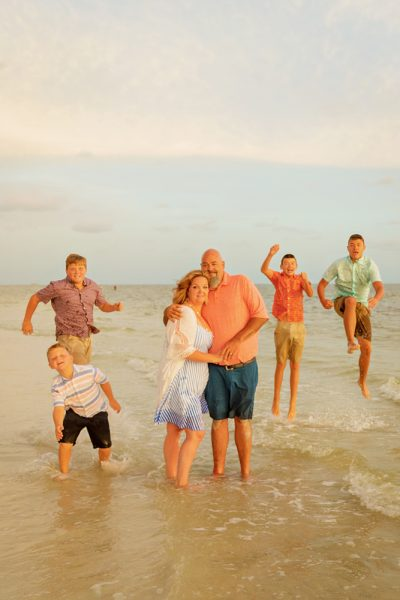 family photo on Fort Myers beach