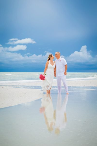 Sanibel beach wedding photo