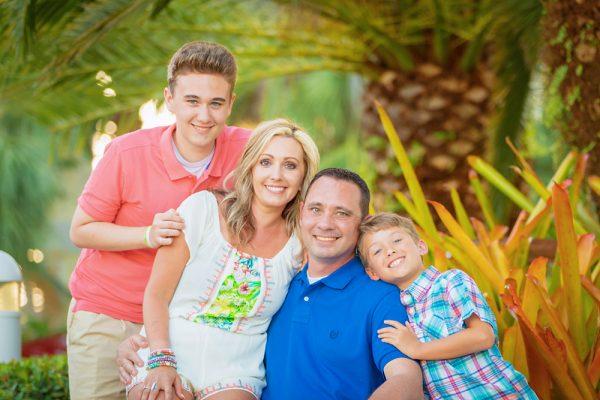 family photo at South Seas Island Resort