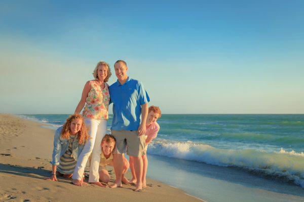 family photo on Captiva Island