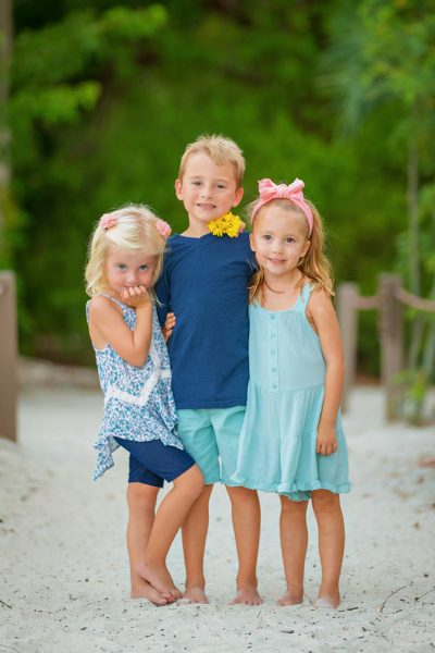 cute photo of brother and two sisters