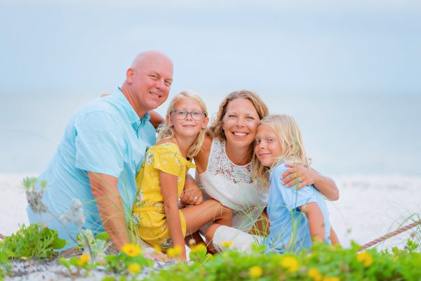 family beach portrait at Sanibel Lighthouse