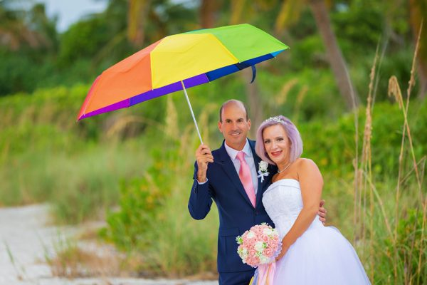 Sanibel beach wedding