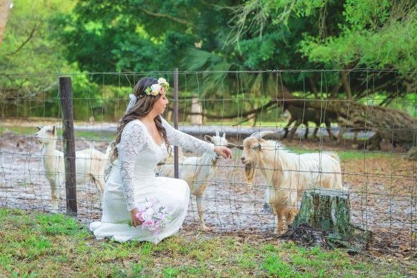 bride photo at outdoor wedding