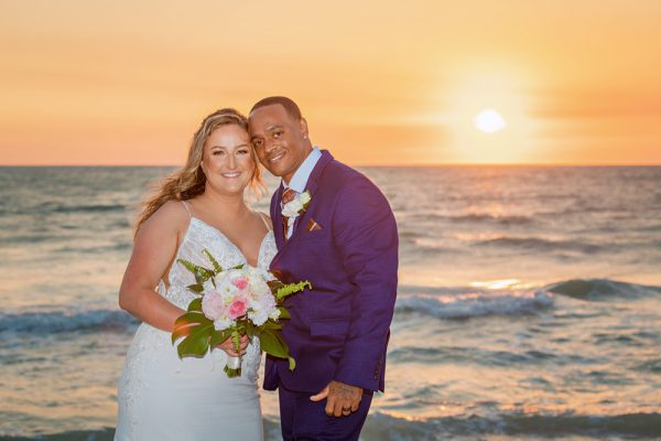 Sunset wedding on Captiva Island