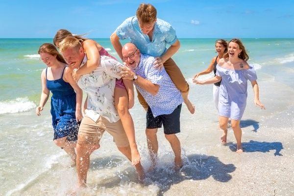 Fun beach family photos