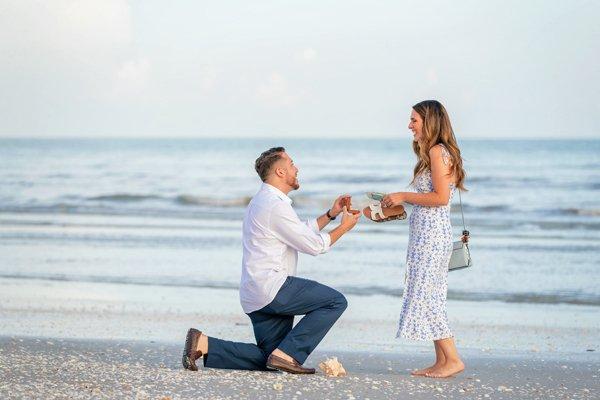 engagement on Sanibel Island