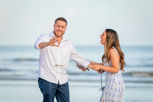 happy engagement on Sanibel