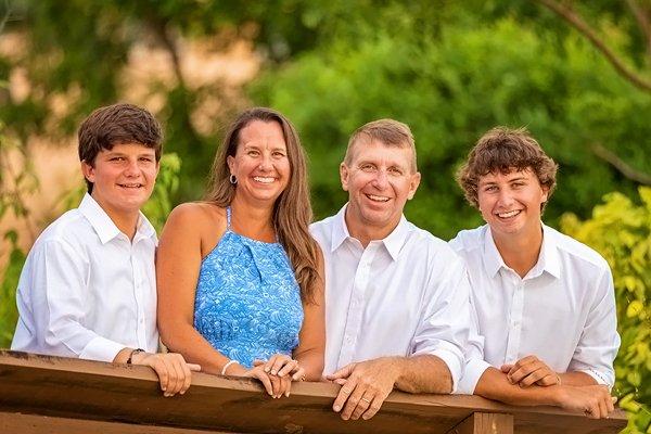 family photo on Marco beach